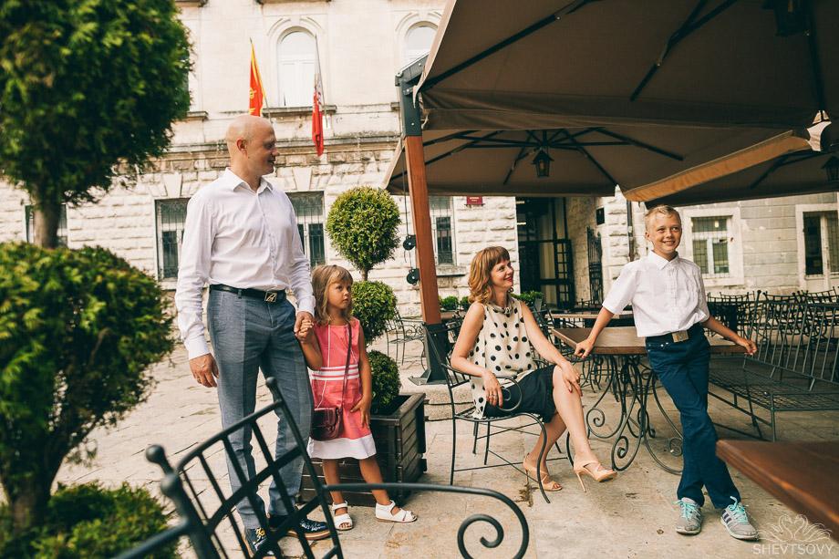 семейная фотосессия в Черногори, Италии