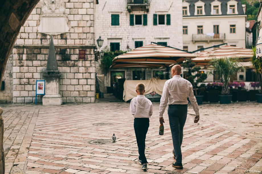 семейная фотосессия в Черногрии, Италии
