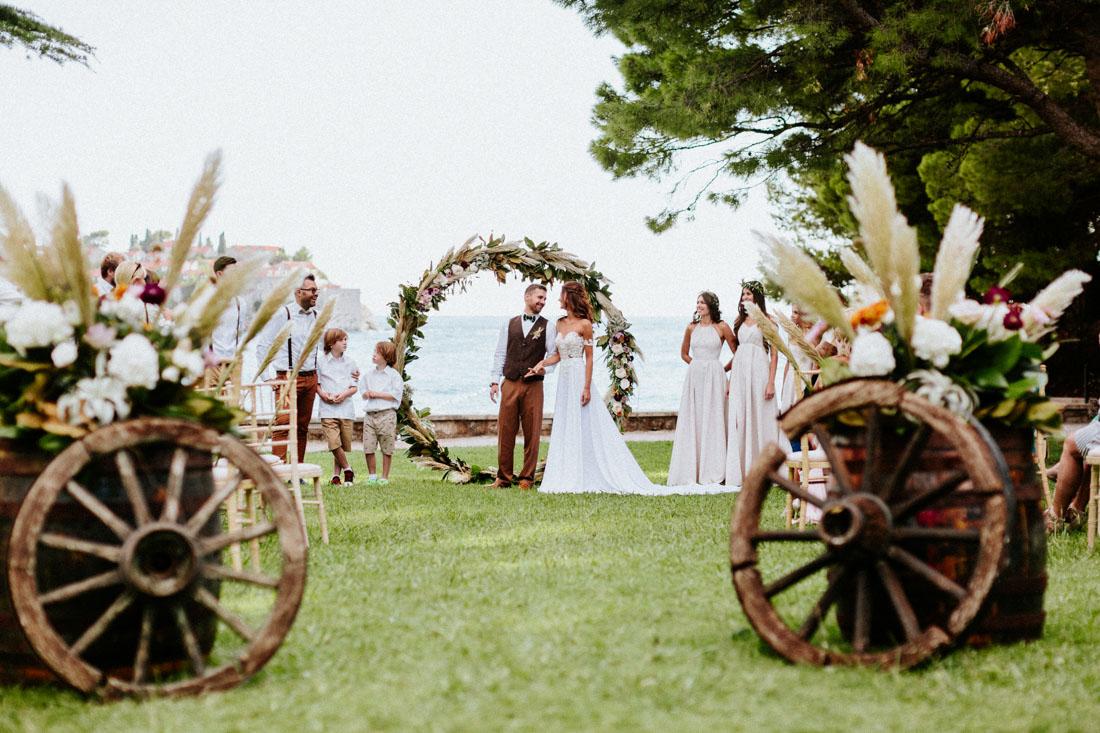 свадьба в черногории, вилла Милочер