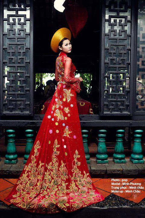 Красное свадебное платье во Вьетнаме